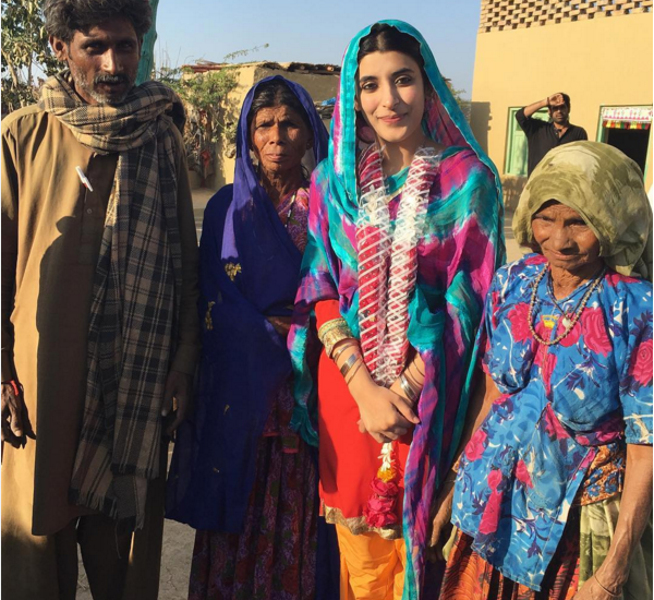 Pictures of Urwa Hozane from the set of Udaari. 2