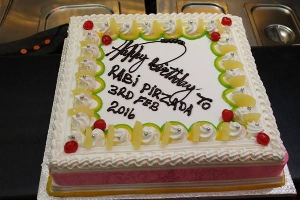 Rabi Peerzada birthday cake
