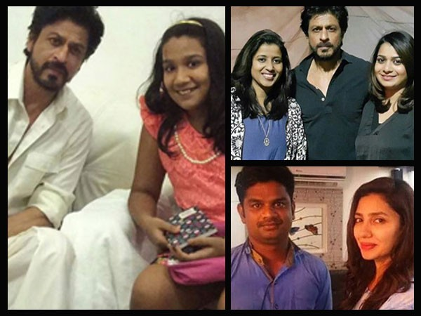 Shah Rukh Khan Mahira Khan on the sets of Raees