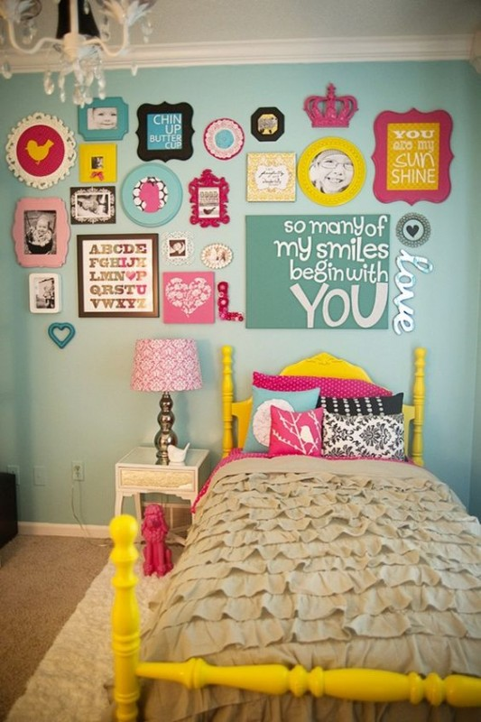 Stylish Wall Decorating Ideas. .colorful