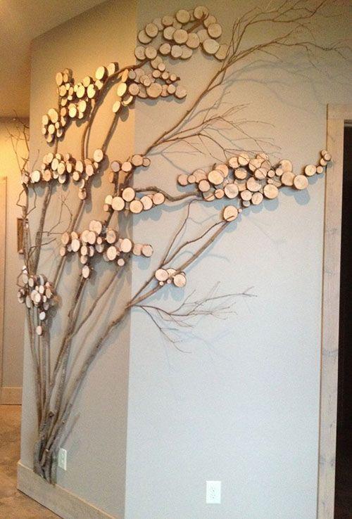 Stylish Wall Decorating Ideas. .wood