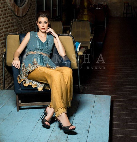 Umsha By Uzma Babar Pret Wear Dresses 2016 For Women009