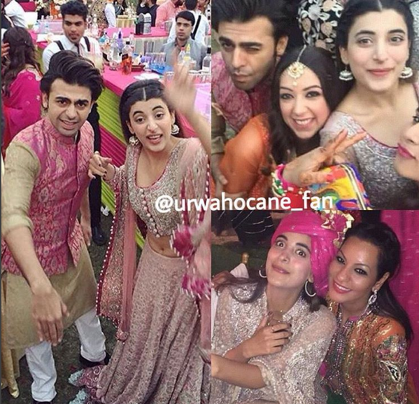 Urwa and Farhan Saeed at Best Friends Wedding in India. 1