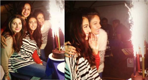 Ushna Shah Celebrating Her Birthday. frnds