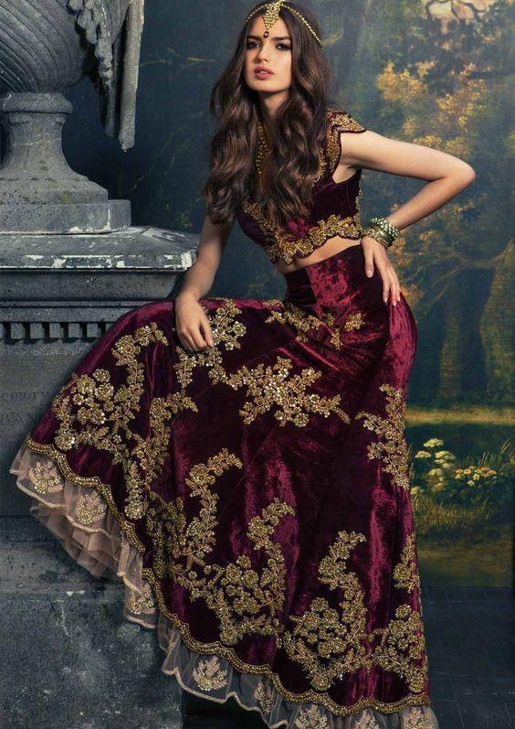 Pakistani Wedding Dresses Online 42 Nice Velvet Bridal dresses latest