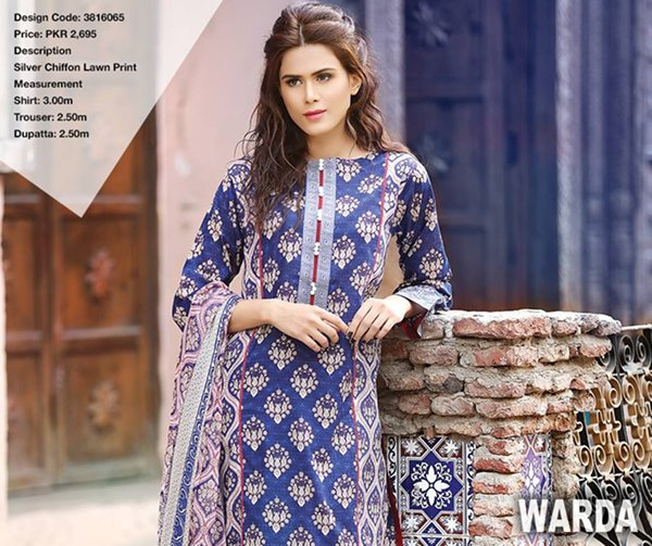 Warda Designer Summer Dresses 2016 Volume 1 For Women024