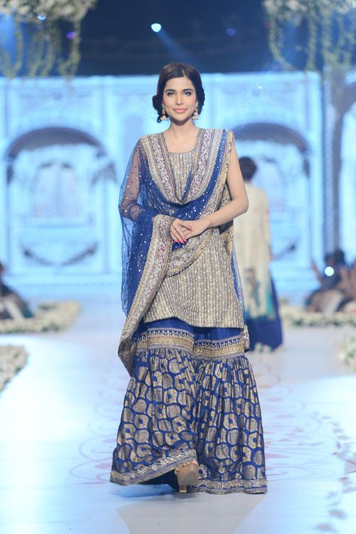Elegant bridal Sharara Designs 2017