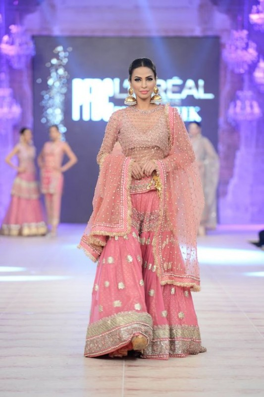 Karma Pink bridal Sharara Designs 2017