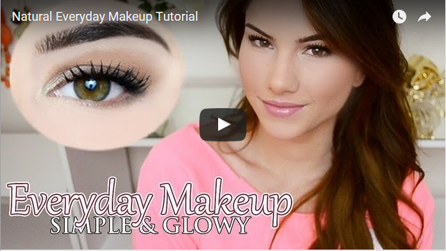 easy natural everyday makeup video images