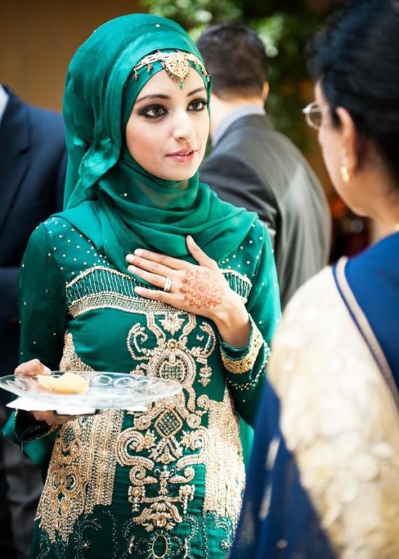 green abaya hijab