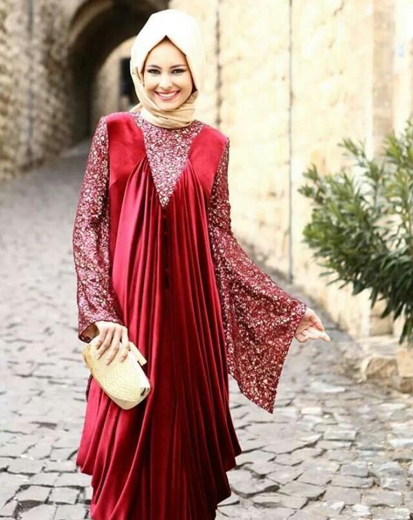 Abaya Wedding Dress 11 New maroon abaya