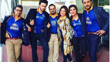 pakistani Pakistani Celebrities in Dubai to support Karachi kings