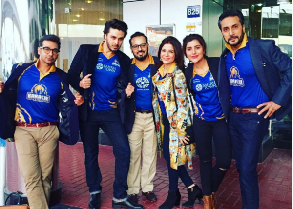 pakistani Celebrities in Dubai to support Karachi king