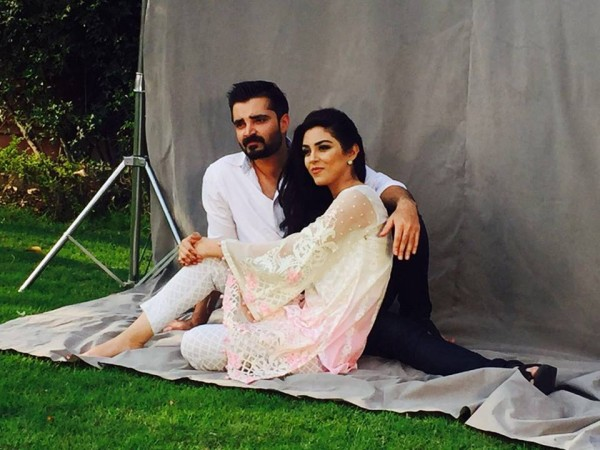 photoshoot of hamza abbasi and maya ali