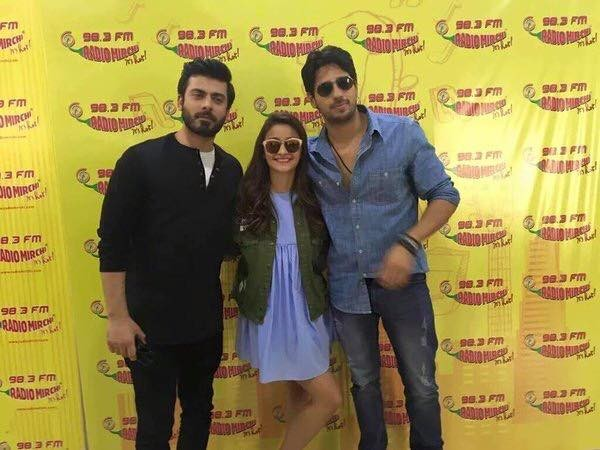 Fawad Khan, Alia Butt and Sidharth Malhotra having fun during promotion of Kapoor and Sons (3)
