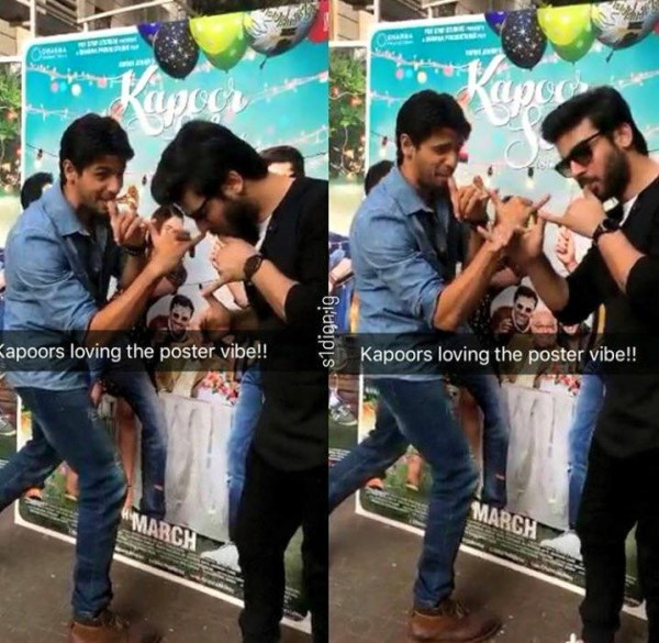 Fawad Khan, Alia Butt and Sidharth Malhotra having fun during promotion of Kapoor and Sons (4)