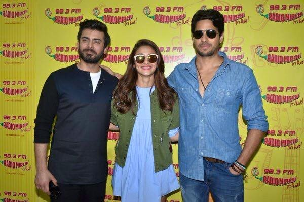 Fawad Khan, Alia Butt and Sidharth Malhotra having fun during promotion of Kapoor and Sons (9)