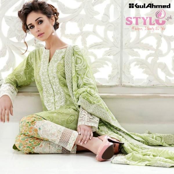 Gul Ahmed Premium Chiffon Printed Dresses 2016