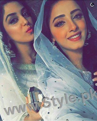 Maya Ali and Sanam Chauhdry at Nikkah Ceremony of Actor Wahaj Ali (2)