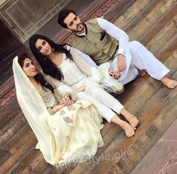 Maya Ali and Sanam Chauhdry at Nikkah Ceremony of Actor Wahaj Ali (5)