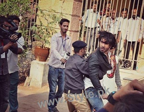 Pictures of Sajjal Ali and Feroze Khan from their debut film Zindagi Kitni Haseen Hai (1)