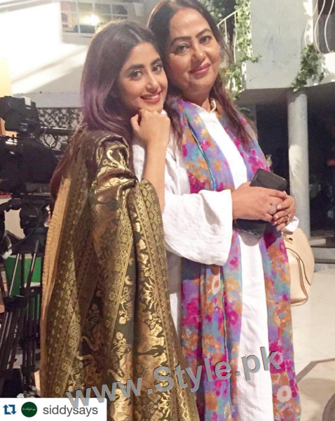 Pictures of Sajjal Ali and Feroze Khan from their debut film Zindagi Kitni Haseen Hai (5)