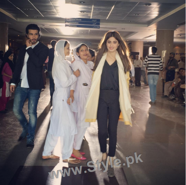 Pictures of Sajjal Ali and Feroze Khan from their debut film Zindagi Kitni Haseen Hai (6)