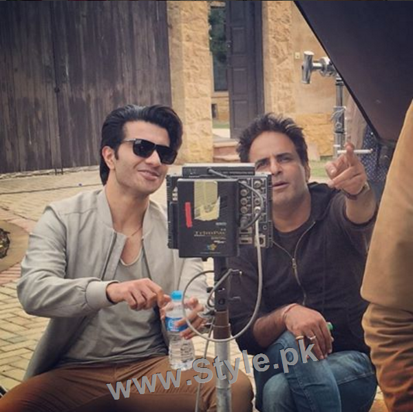 Pictures of Sajjal Ali and Feroze Khan from their debut film Zindagi Kitni Haseen Hai