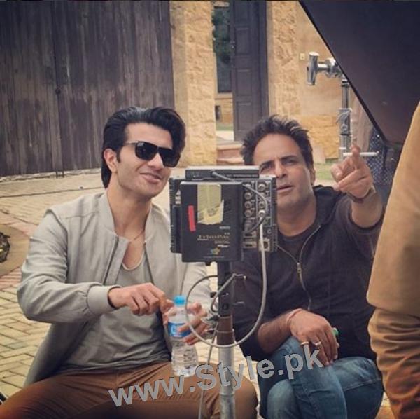 Pictures of Sajjal Ali and Feroze Khan from their debut film Zindagi Kitni Haseen Hai