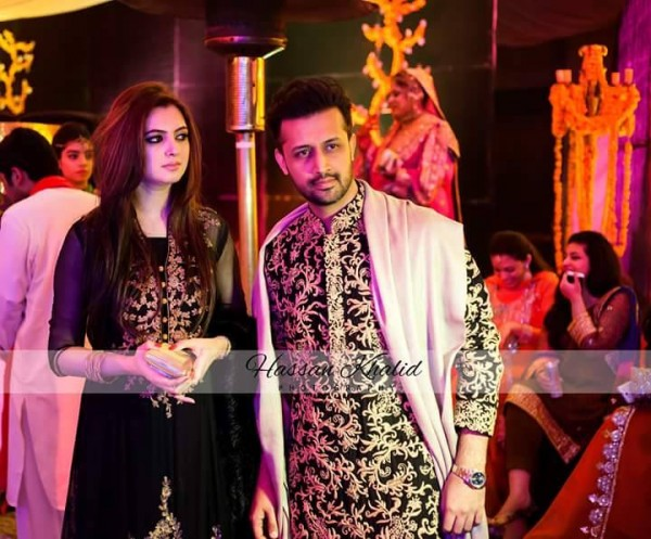 See Recent clicks of Atif Aslam with his Wife