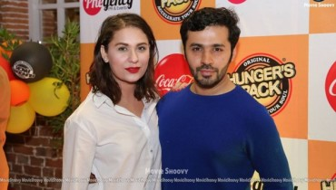 saim and nousheen shah at hunger's pack launch