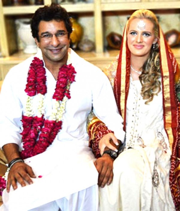 wasim akram wedding