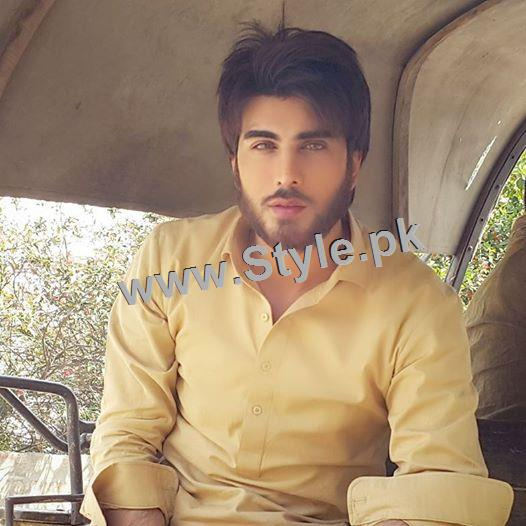 Imran Abbas and Sadia Khan during Shooting of Khuda Aur Mohabbat 2 (2)