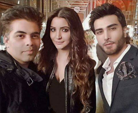 See Imran Abbas with Karan Johar and Anushka Sharma in London