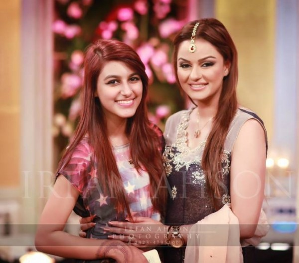 Javeria Abbasi with daughter