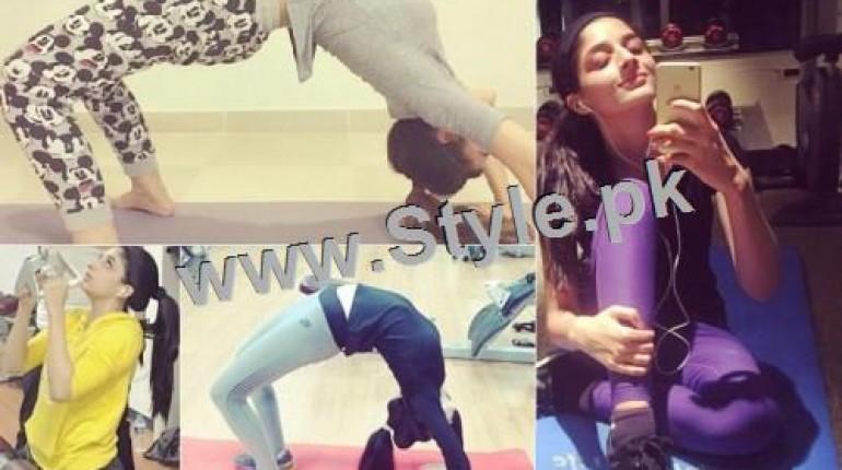 See Mawra Hocane works hard in Gym