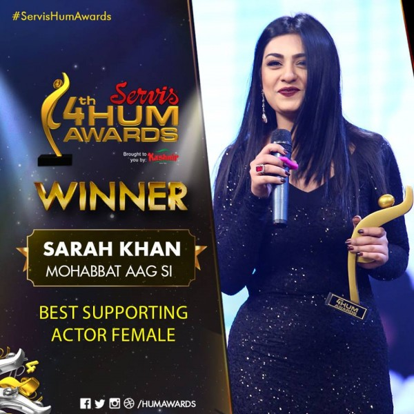 Sarah Khan 4th Hum Awards
