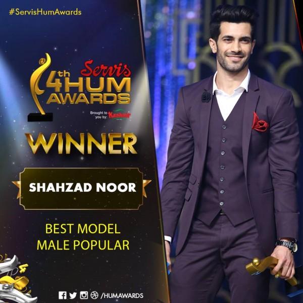 Shehzad Noor best model Male 4th Hum Awards