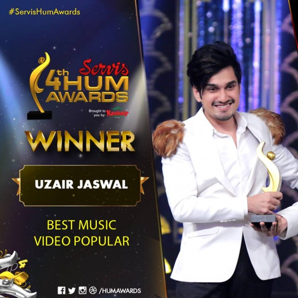 Uzair Jaswal Best Music 4th Hum Awards