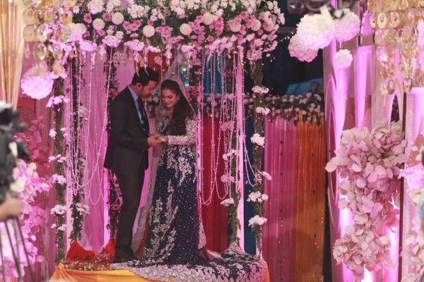 Ahmed Hassan and Nousheen Ibrahim' Reception pictures (12)