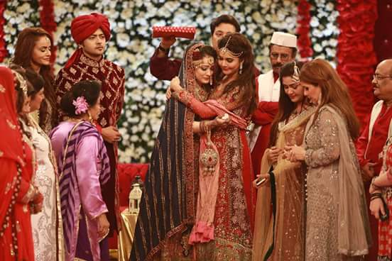 Ahmed Hassan and Nousheen Ibrahim's Grand Wedding in Good Morning Pakistan (3)