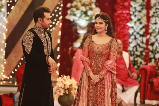 Ahmed Hassan and Nousheen Ibrahim's Grand Wedding in Good Morning Pakistan (5)