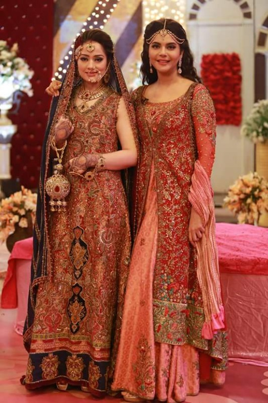 Ahmed Hassan and Nousheen Ibrahim's Grand Wedding in Good Morning Pakistan (9)