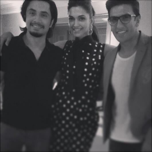 Ali Zafar with Deepika and Ranveer