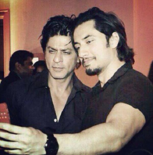 Ali Zafar with Shah Rukh Khan