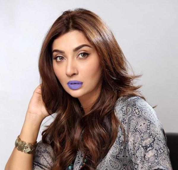 Ayesha Khan In Purple Lipstick