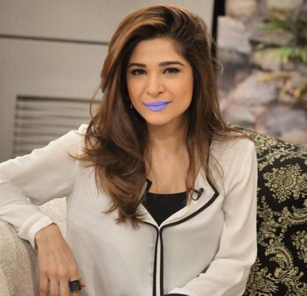 Ayesha Omer In Purple Lipstick