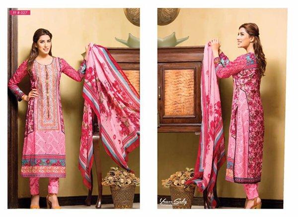 Falak Fabrics Summer Dresses 2016 For Women009
