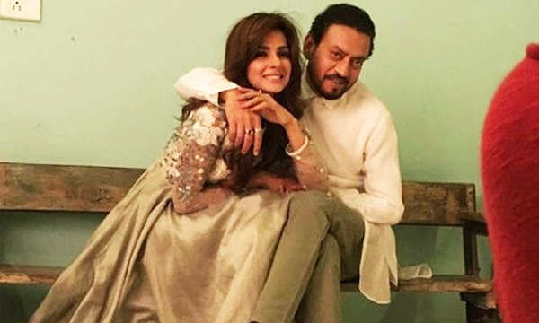 Irrfan Khan with Saba Qamar