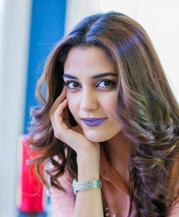 Maya Ali In Purple Lipstick